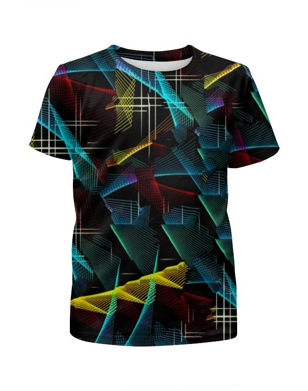 Футболка с полной запечаткой для мальчиков Printio Цветные полосы футболка с полной запечаткой для мальчиков printio bats spawn arsb