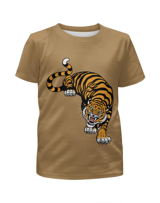 Футболка с полной запечаткой для мальчиков Printio Свирепый тигр подушка 60х40 с полной запечаткой printio свирепый тигр