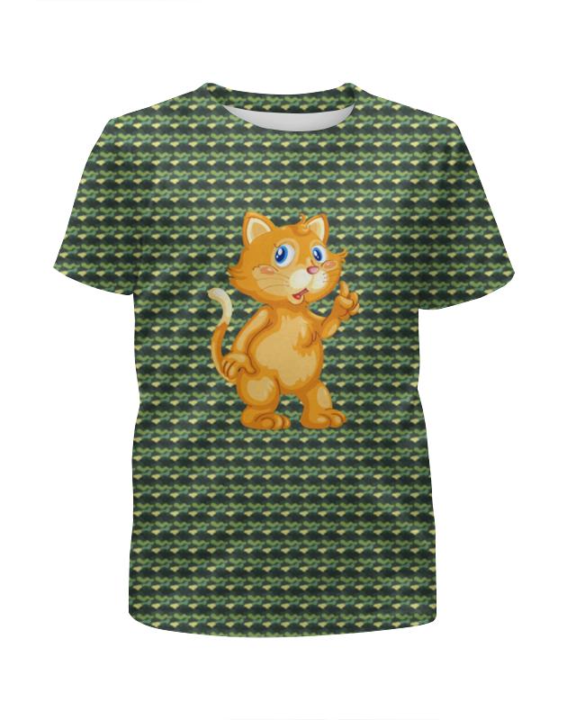 Футболка с полной запечаткой для мальчиков Printio Рыжий кот футболка с полной запечаткой для мальчиков printio braaaaatnsssss