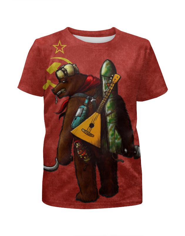 Футболка с полной запечаткой для мальчиков Printio Angry russian bear футболка для беременных printio putin love russian bear