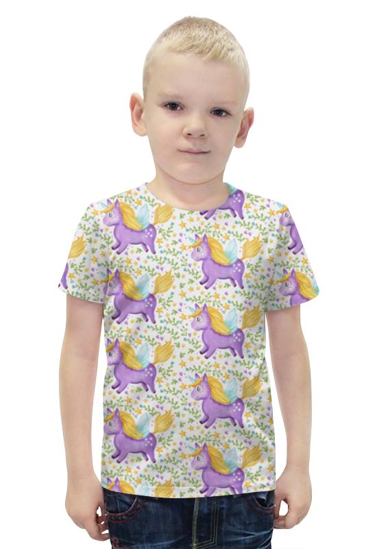Футболка с полной запечаткой для мальчиков Printio Единорог футболка с полной запечаткой для мальчиков printio slove arsb