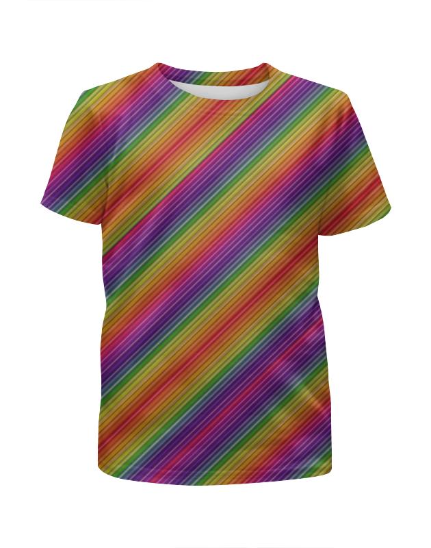 Футболка с полной запечаткой для мальчиков Printio Линии радуги футболка с полной запечаткой женская printio линии