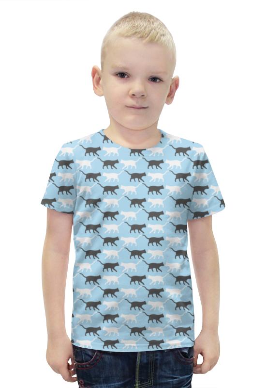 Футболка с полной запечаткой для мальчиков Printio Котики футболка с полной запечаткой для мальчиков printio slove arsb
