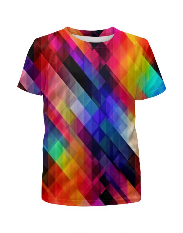 Футболка с полной запечаткой для мальчиков Printio Цветные узоры футболка с полной запечаткой для мальчиков printio bats spawn arsb