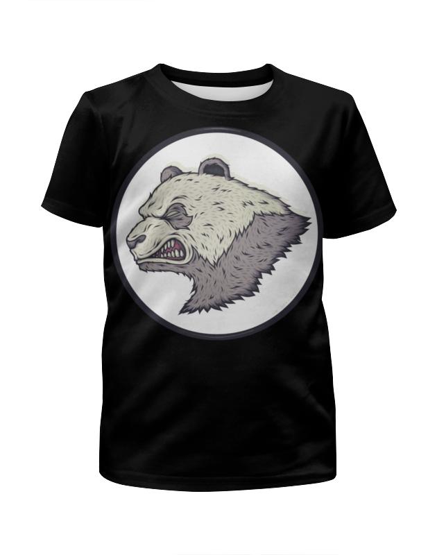 Футболка с полной запечаткой для мальчиков Printio Angry panda / злая панда подушки для малыша candide подушка анатомическая панда brownish grey panda pillow 21x19 см