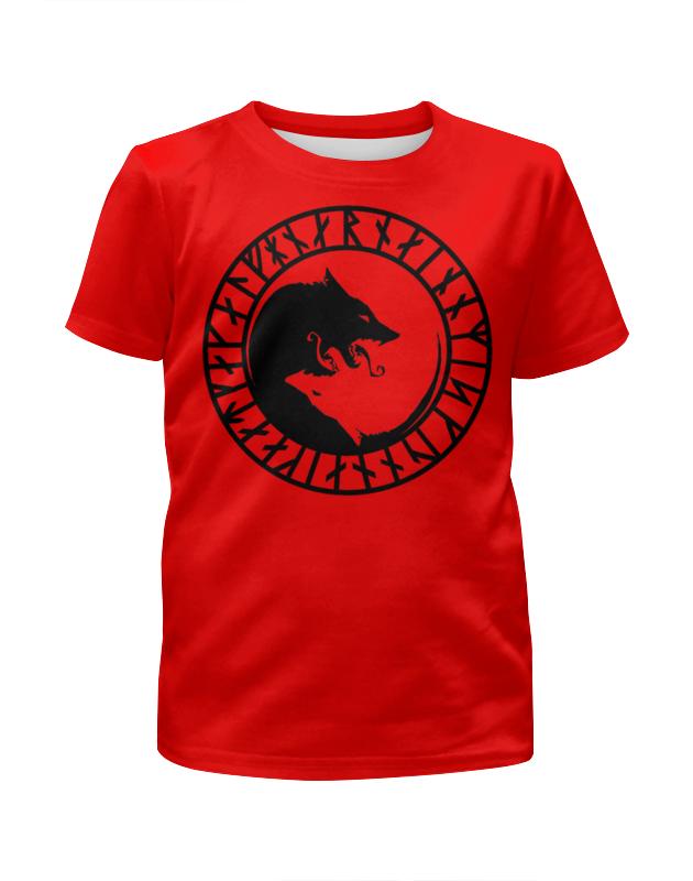 Футболка с полной запечаткой для мальчиков Printio Руна викингов футболка с полной запечаткой мужская printio руна викингов