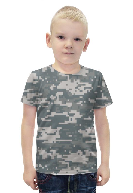 Футболка с полной запечаткой для мальчиков Printio Камуфляж (цифра) камуфляж уставной нового образца российской армии русская цифра купить в москве