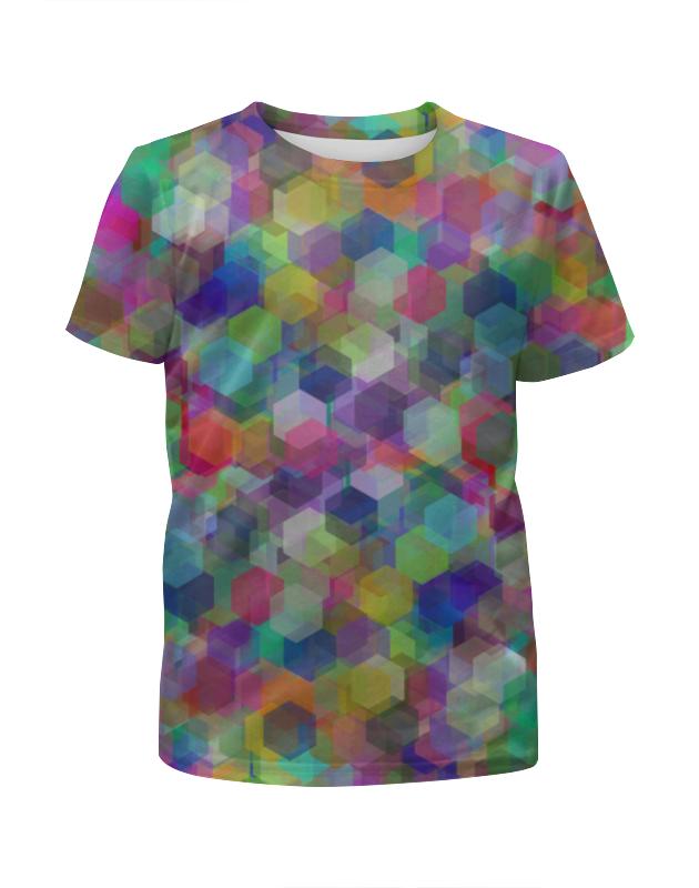 Футболка с полной запечаткой для мальчиков Printio Орнамент из разноцветных кристаллов футболка с полной запечаткой для мальчиков printio геометрический орнамент