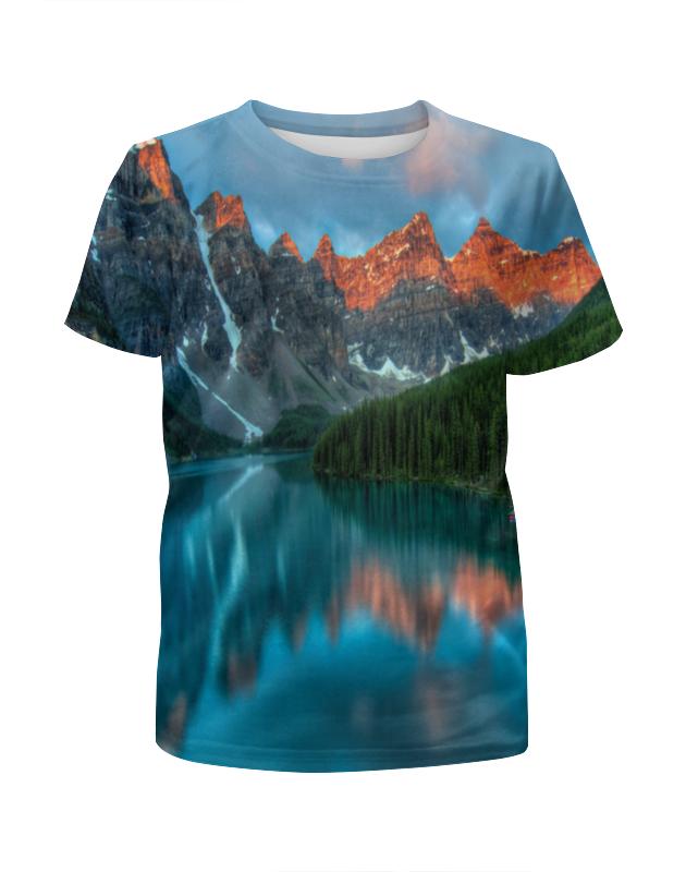 Футболка с полной запечаткой для мальчиков Printio Горы у озера футболка с полной запечаткой printio х у й ё б