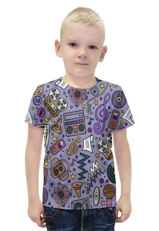 Футболка с полной запечаткой для мальчиков Printio Музыка футболка с полной запечаткой для мальчиков printio bats spawn arsb