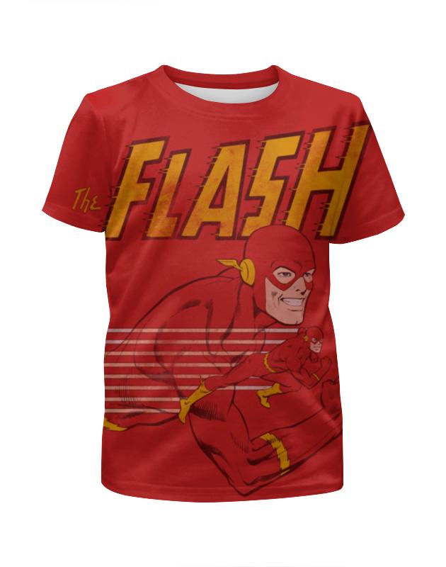 все цены на Футболка с полной запечаткой для мальчиков Printio Флэш (flash) онлайн