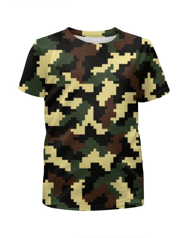 Футболка с полной запечаткой для мальчиков Printio Camouflage style xintown camouflage winter long sleeved