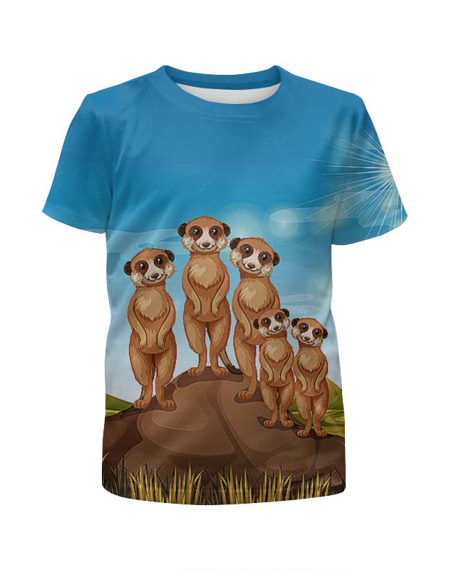Футболка с полной запечаткой для мальчиков Printio Сурикаты футболка с полной запечаткой для мальчиков printio пес летчик
