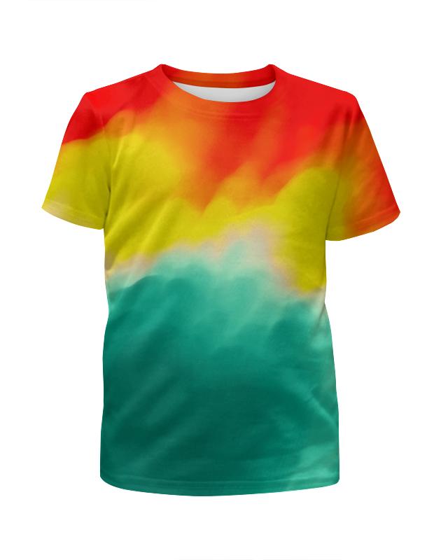 Футболка с полной запечаткой для мальчиков Printio Watercolor watercolor flower print shirt