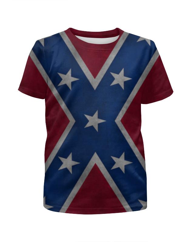 Printio Флаг конфедерации сша футболка с полной запечаткой для мальчиков printio american flag американский флаг
