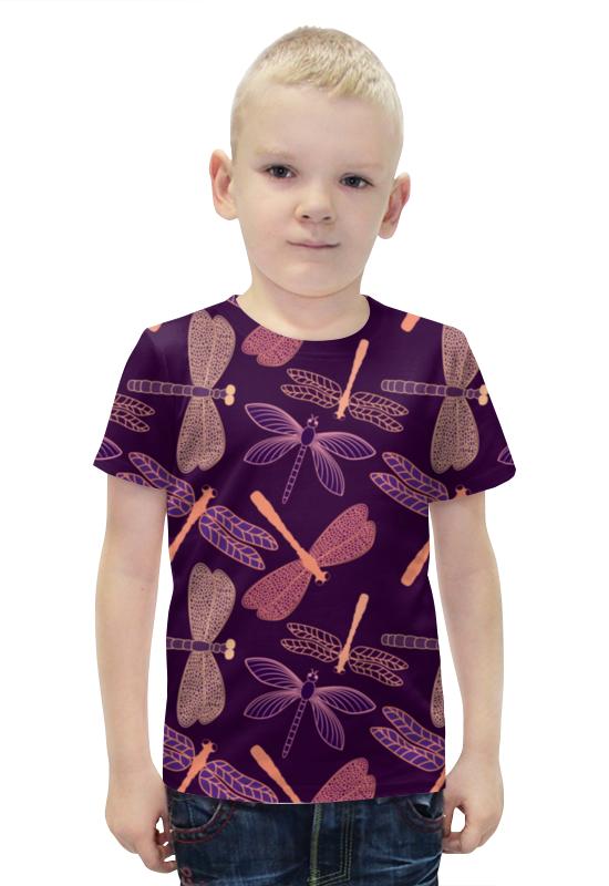 Футболка с полной запечаткой для мальчиков Printio Стрекозы футболка с полной запечаткой для мальчиков printio bats spawn arsb