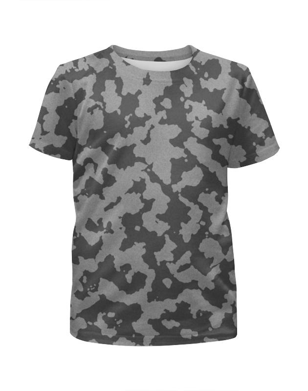 Футболка с полной запечаткой для мальчиков Printio Тёмно-серый камуфляж футболка с полной запечаткой для мальчиков printio серый пиксельный камуфляж