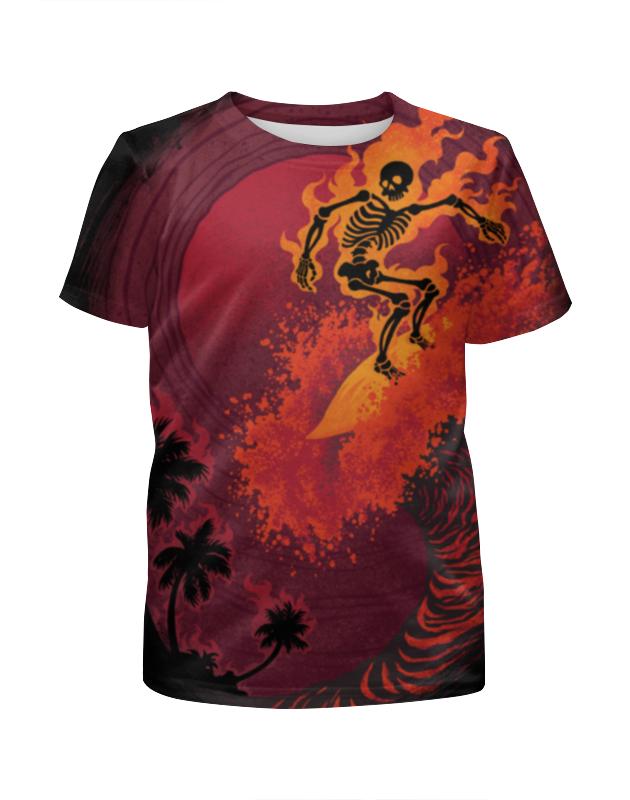 Фото - Футболка с полной запечаткой для мальчиков Printio Огненная волна футболка с полной запечаткой для мальчиков printio большая волна
