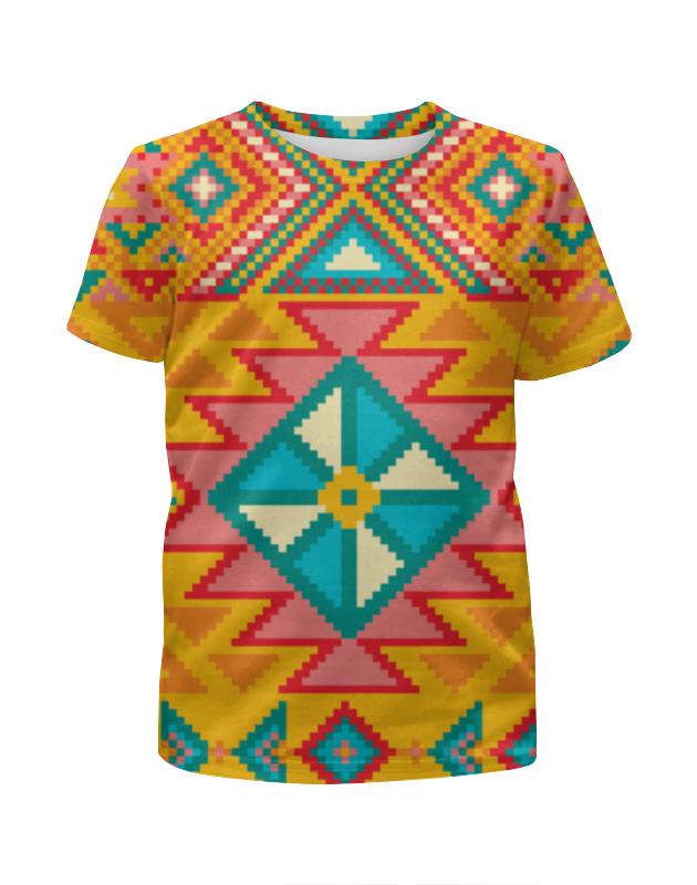 Футболка с полной запечаткой для мальчиков Printio Этнический узор футболка с полной запечаткой для девочек printio этнический узор