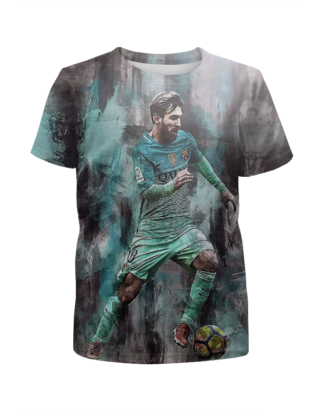 Футболка с полной запечаткой для мальчиков Printio Lionel messi цена и фото