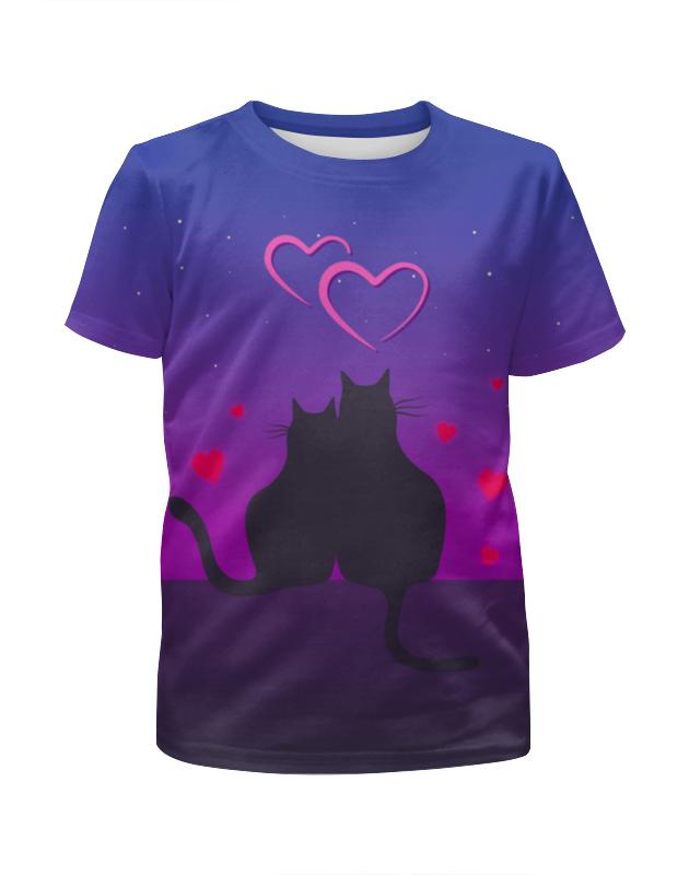 Футболка с полной запечаткой для мальчиков Printio Cat's desire. парные футболки. футболки
