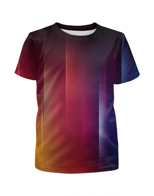 Футболка с полной запечаткой для мальчиков Printio Переход цвета футболка с полной запечаткой для мальчиков printio размытые цвета