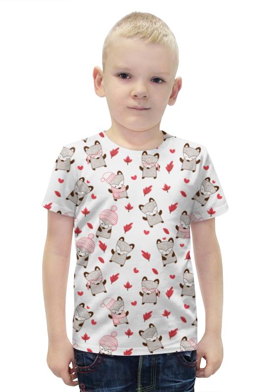 Футболка с полной запечаткой для мальчиков Printio Лисички футболка с полной запечаткой для мальчиков printio slove arsb