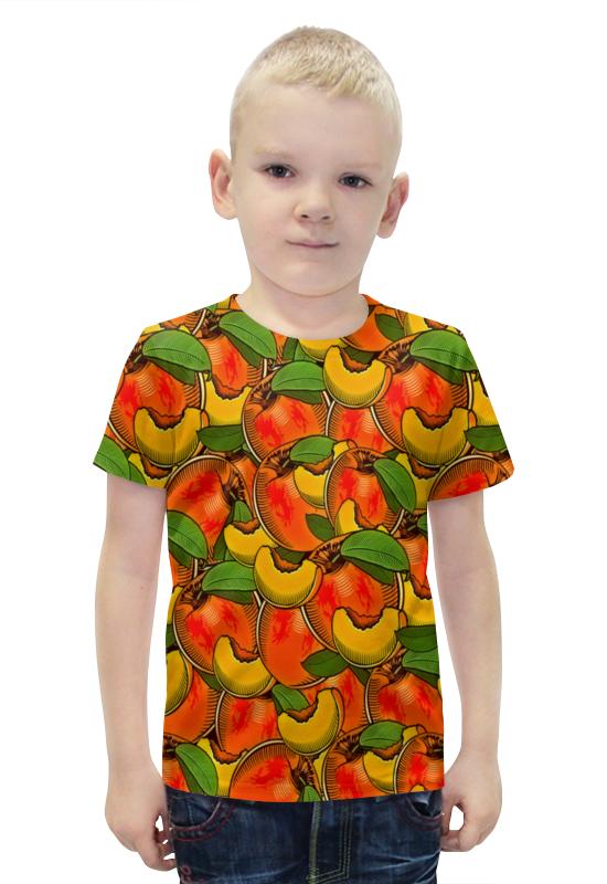 Футболка с полной запечаткой для мальчиков Printio Персик футболка с полной запечаткой для мальчиков printio bats spawn arsb