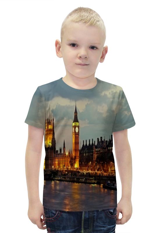 Футболка с полной запечаткой для мальчиков Printio London футболка с полной запечаткой для мальчиков printio bats spawn arsb
