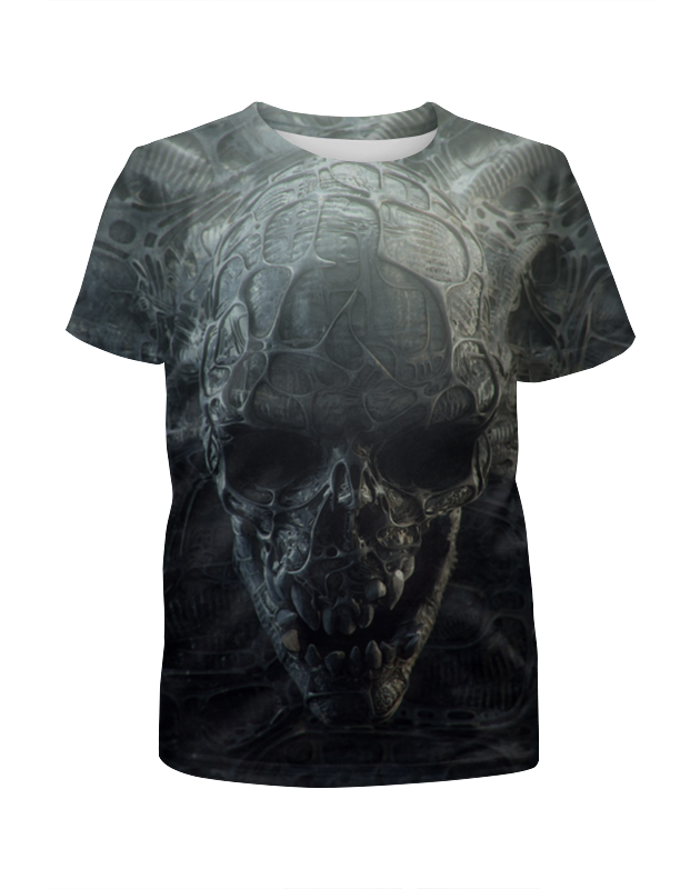 Футболка с полной запечаткой для мальчиков Printio Skull футболка с полной запечаткой для мальчиков printio just some devil skull