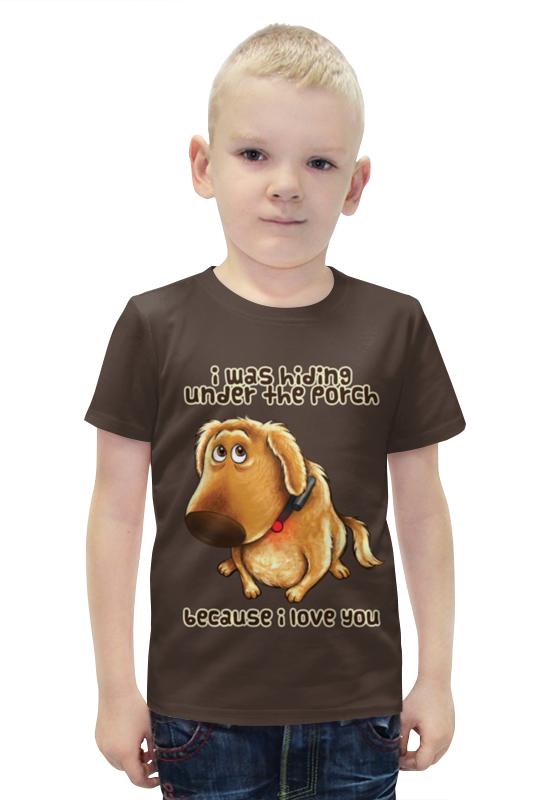 Футболка с полной запечаткой для мальчиков Printio Собачка футболка с полной запечаткой для мальчиков printio slove arsb