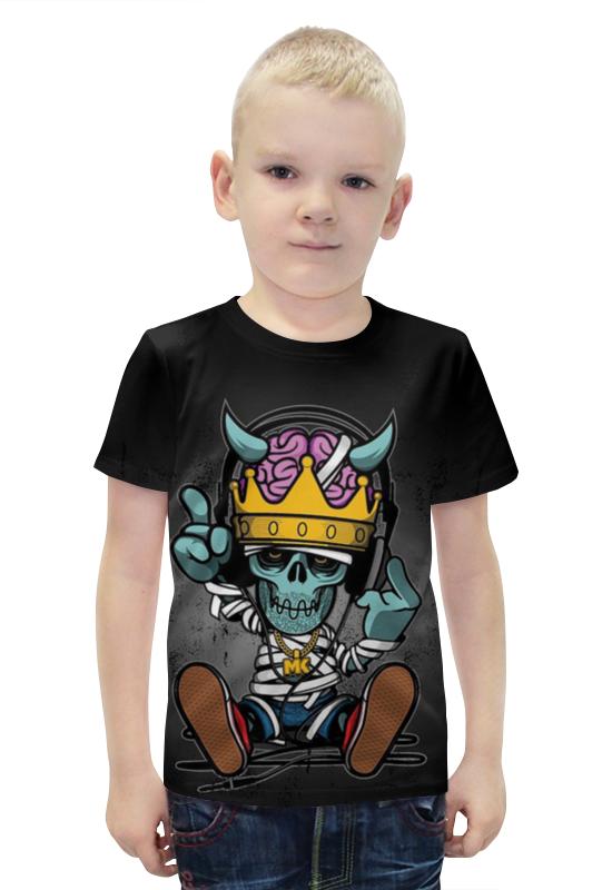Футболка с полной запечаткой для мальчиков Printio Скелетончик футболка с полной запечаткой для мальчиков printio bats spawn arsb