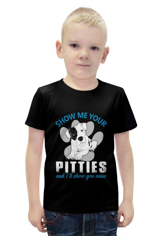 Футболка с полной запечаткой для мальчиков Printio Pitties футболка с полной запечаткой для мальчиков printio bats spawn arsb