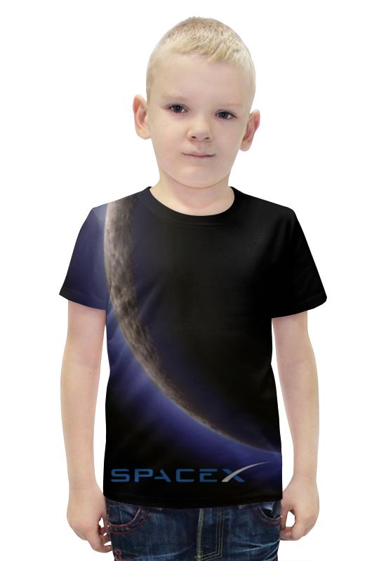 Футболка с полной запечаткой для мальчиков Printio Spacex. dragon