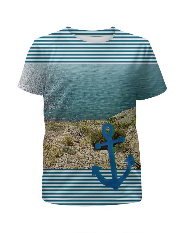 Футболка с полной запечаткой для мальчиков Printio Морячок. футболка с полной запечаткой для мальчиков printio еноты