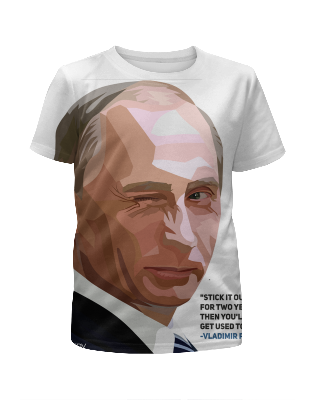 Футболка с полной запечаткой для мальчиков Printio Владимир путин цена