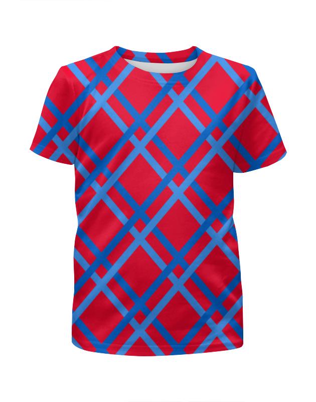 Футболка с полной запечаткой для мальчиков Printio Сине-голубые линии футболка с полной запечаткой для мальчиков printio узор линии