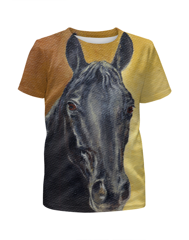 Футболка с полной запечаткой для мальчиков Printio Портрет лошади лошади 2284