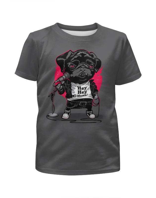 Футболка с полной запечаткой для мальчиков Printio Black dog сумка printio gta 5 dog