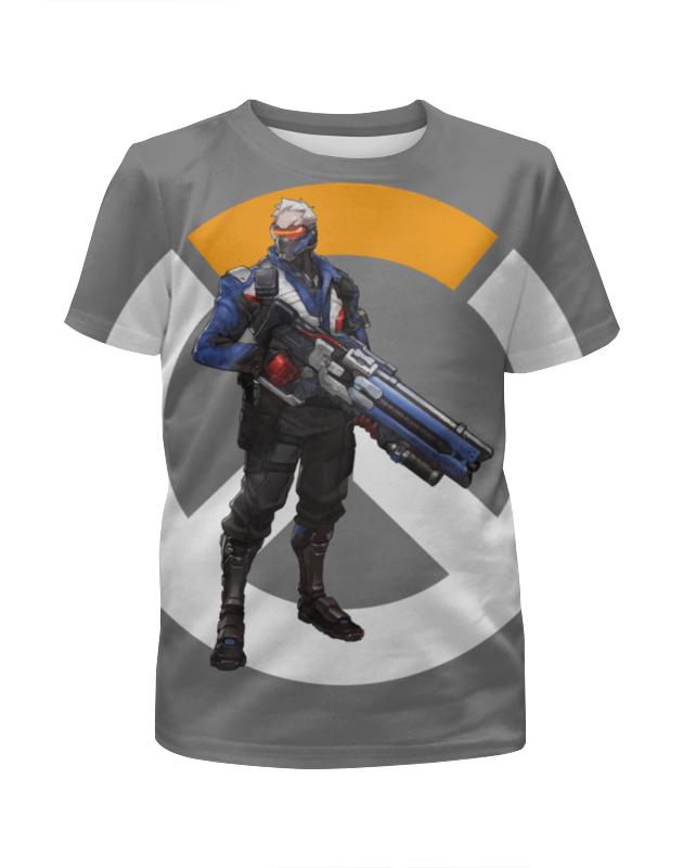 Футболка с полной запечаткой для мальчиков Printio Overwatch soldier 76 / овервотч солдат 76 футболка для беременных printio неизвестный солдат