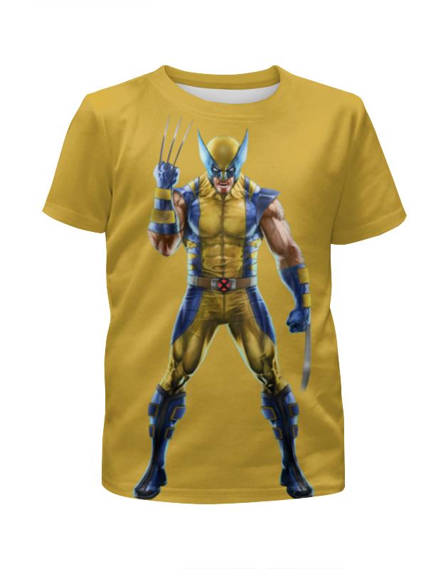 Футболка с полной запечаткой для мальчиков Printio Wolverine / росомаха футболка с полной запечаткой для девочек printio росомаха wolverine логан