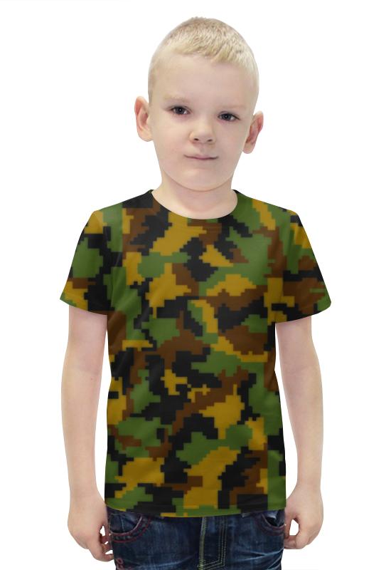 Футболка с полной запечаткой для мальчиков Printio Камуфляжный футболка с полной запечаткой для мальчиков printio slove arsb