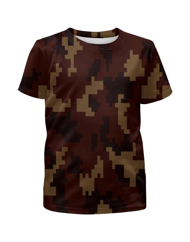 Футболка с полной запечаткой для мальчиков Printio Camouflage brown футболка с полной запечаткой для мальчиков printio camouflage brown