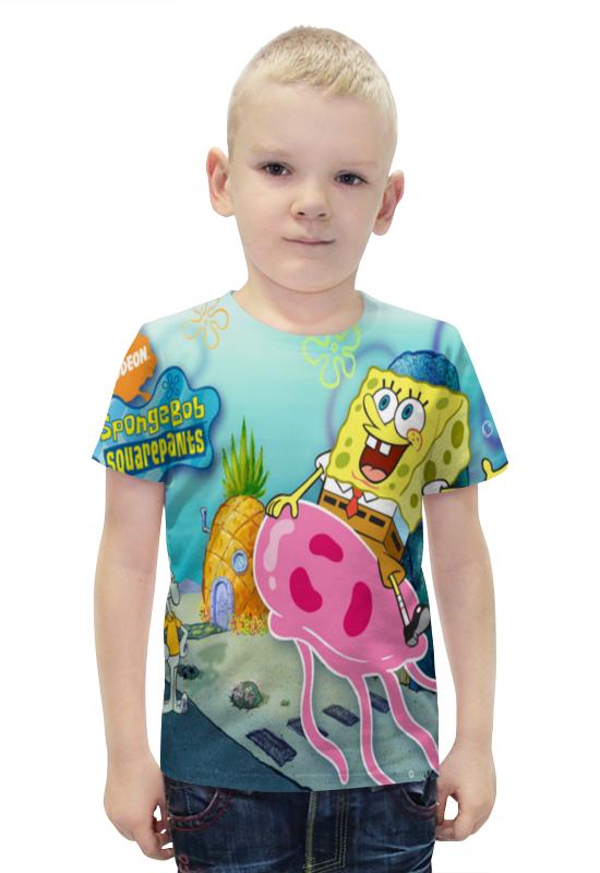 Футболка с полной запечаткой для мальчиков Printio Спанч боб любимый мульт герой мягкая игрушка спанч боб купить или заказать с доставкой