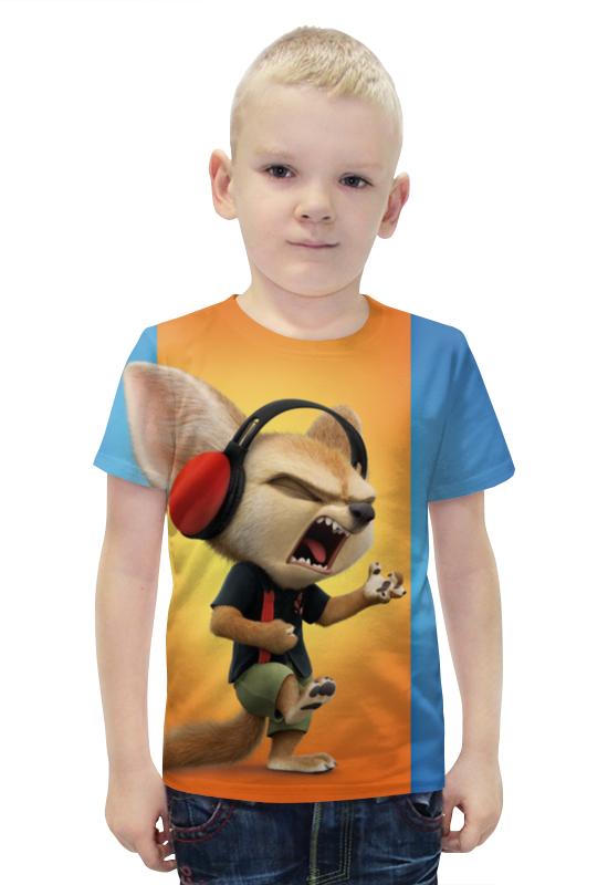 Футболка с полной запечаткой для мальчиков Printio Зверополис футболка с полной запечаткой для мальчиков printio bats spawn arsb
