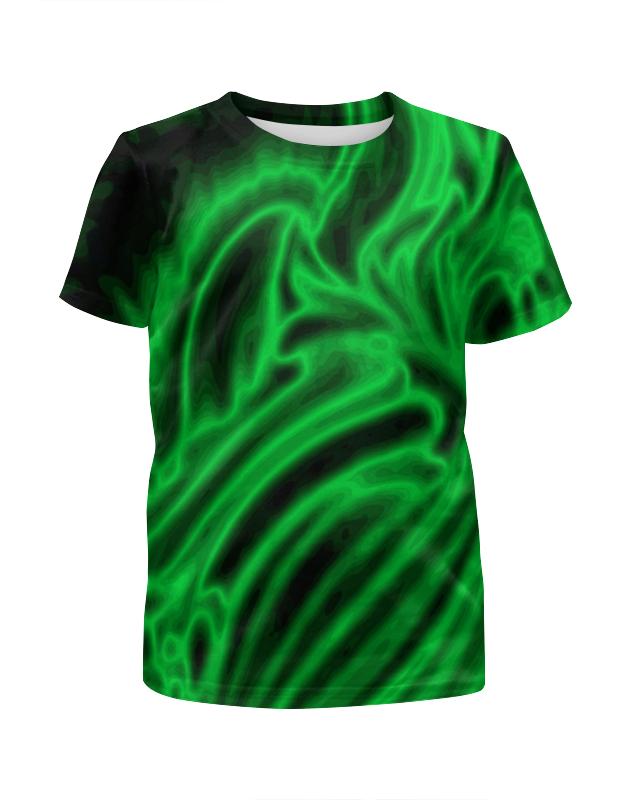 Футболка с полной запечаткой для мальчиков Printio Яркий зеленый футболка с полной запечаткой для мальчиков printio bats spawn arsb
