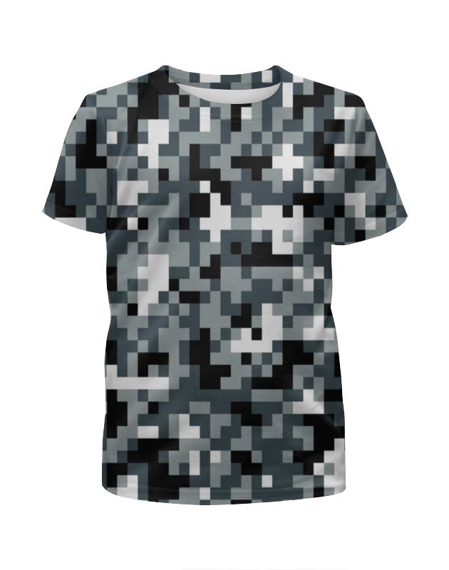 цена Футболка с полной запечаткой для мальчиков Printio Pixel gray