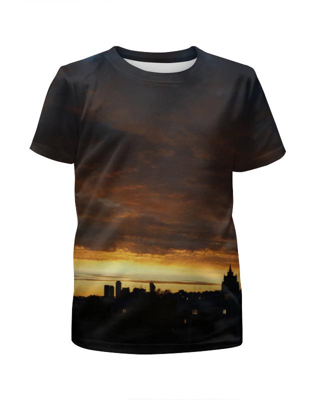 Футболка с полной запечаткой для мальчиков Printio Городской закат футболка с полной запечаткой для мальчиков printio пламенный закат
