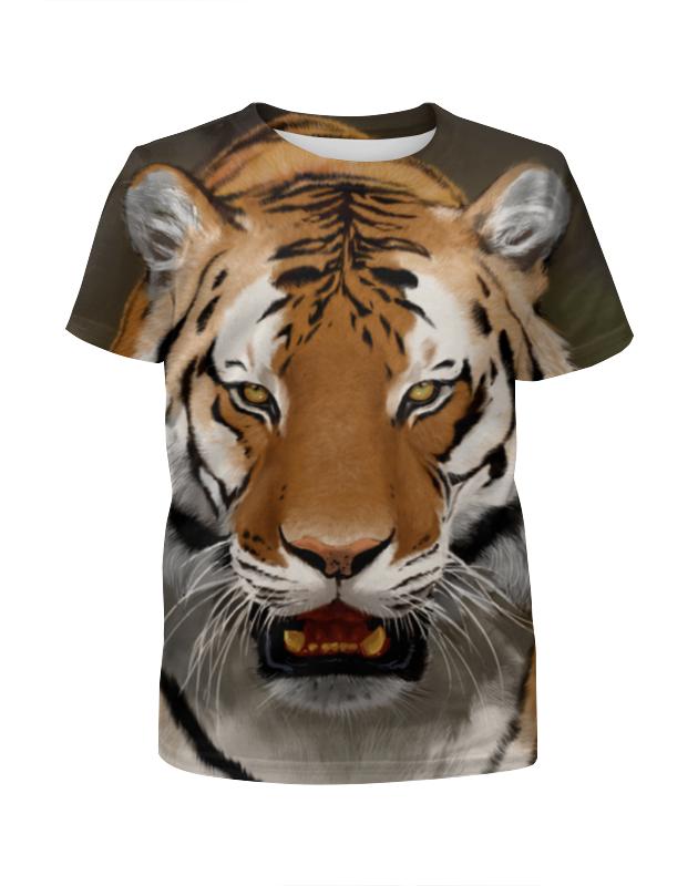 Футболка с полной запечаткой для мальчиков Printio Амурский тигр футболка с полной запечаткой мужская printio амурский тигр