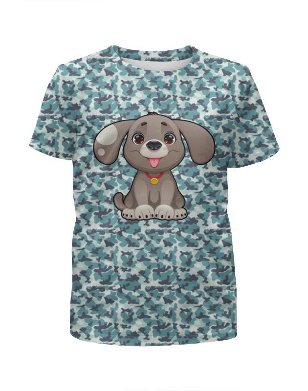 Футболка с полной запечаткой для мальчиков Printio Милая собачка футболка с полной запечаткой для мальчиков printio собачка
